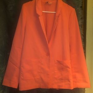 COPY - H&M Divided Coral One Button Blazer